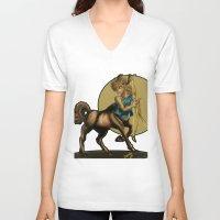 sagittarius V-neck T-shirts featuring Sagittarius  by Camisha Kelley