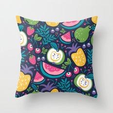Hello Fruity Throw Pillow
