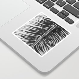 Palm Tree Shadow on Sand in Black and White Sticker