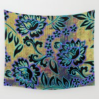 tiki Wall Tapestries featuring Tiki Dance by Vikki Salmela