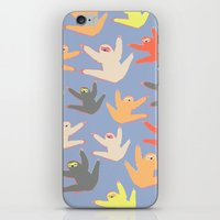sloths iPhone & iPod Skins featuring Print with sloths by Darish