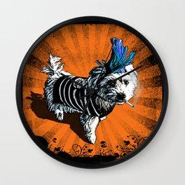 Puppy Punk Wall Clock