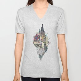 Onion City Diorama Unisex V-Neck
