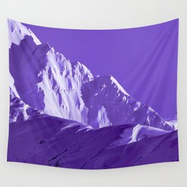 Alaskan Mts. I, Bathed in Purple Wall Tapestry