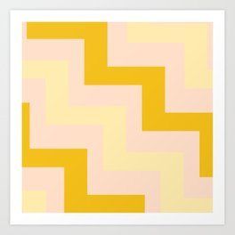Chevron diagonal 90s Art Print