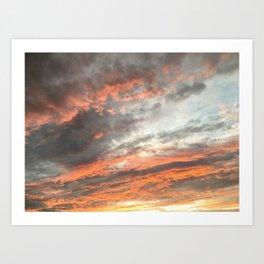 Summer Sun Set Art Print