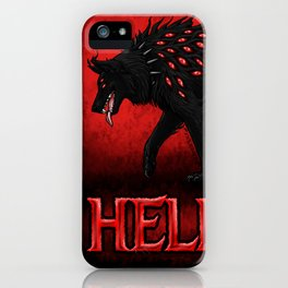 Hellhound Guardian of the Underworld iPhone Case