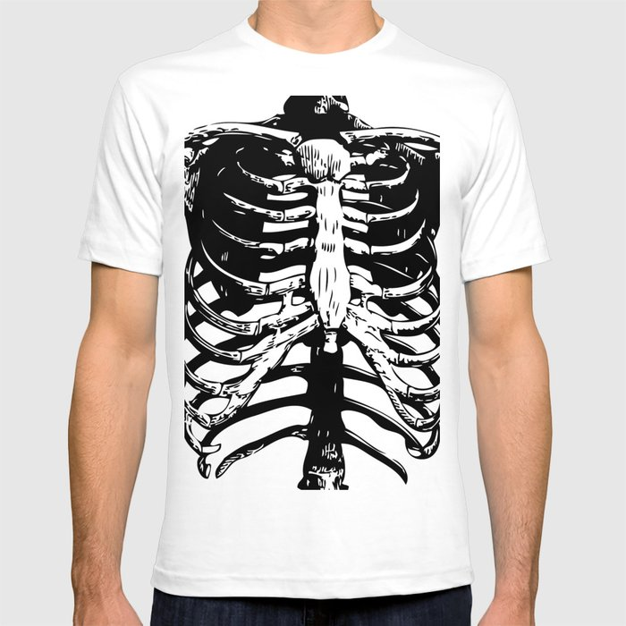 a4f263e1 Skeleton Ribs | Black and White T-shirt by eclecticatheart | Society6
