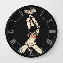 Defeated Heroine Wall Clock