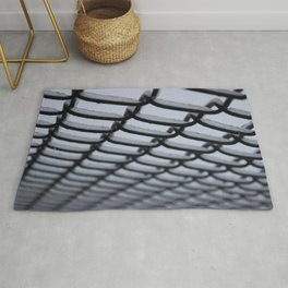 Ice Covered Chain Linked Fence Rug
