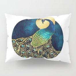 Golden Peacock Pillow Sham