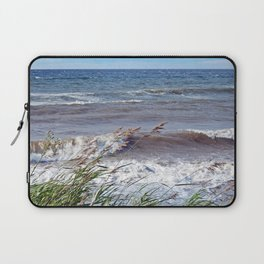 Waves Rolling up the Beach Laptop Sleeve