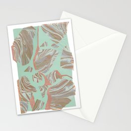 Abstract Marble and Mint 2 Stationery Cards