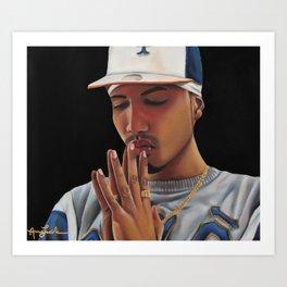 'Oración Sincera'  (Sincere Prayer) Art Print
