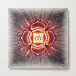 Muladhara Chakra - Root Chakra - Series IV Metal Print