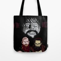 wwe Tote Bags featuring WWE - The Wyatt Family by Chaotic Color