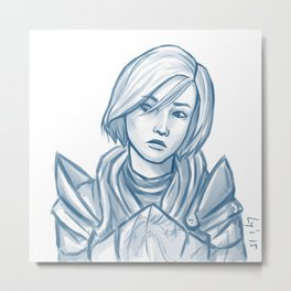 I still wonder... (Femshep) Metal Print