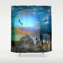 Songlines Shower Curtain