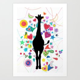 Giraffe World Art Print