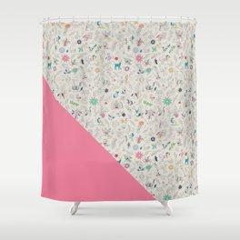 Pez Otomi pink by Ana Kane Shower Curtain