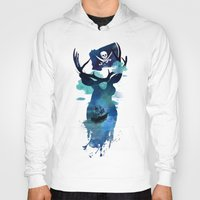 captain hook Hoodies featuring Captain Hook by Robert Farkas