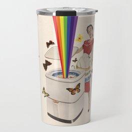 Rainbow Washing Machine Travel Mug