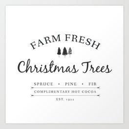 Christmas Tree Farm Art Print Gift Art Print