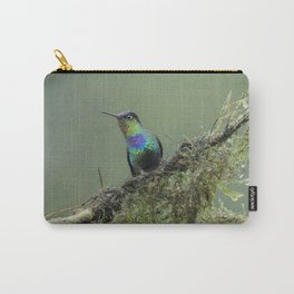 Costa Rican Fiery-throated Hummingbird in the rain Carry-All Pouch