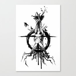 Black Spring Canvas Print