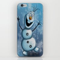 olaf iPhone & iPod Skins featuring Olaf by MandiMccl