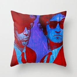 les frères bleu Throw Pillow