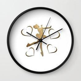 Lovely Gift Ice Skating Tshirt Design FIGURE SKATING ADDICT Wall Clock