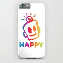HAPPY  Stripes iPhone Case
