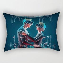 Virtual Lovers Rectangular Pillow