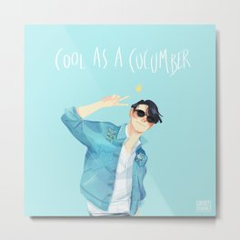 Cool as a cucumber Metal Print