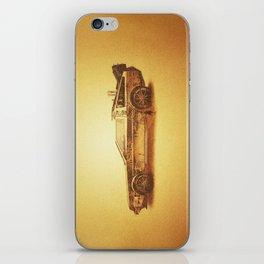 Lost in the Wild Wild West! (Golden Delorean Doubleexposure Art) iPhone Skin