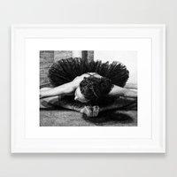 helen green Framed Art Prints featuring Helen by Katie Bennett