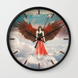 Lady of the Clouds Wall Clock