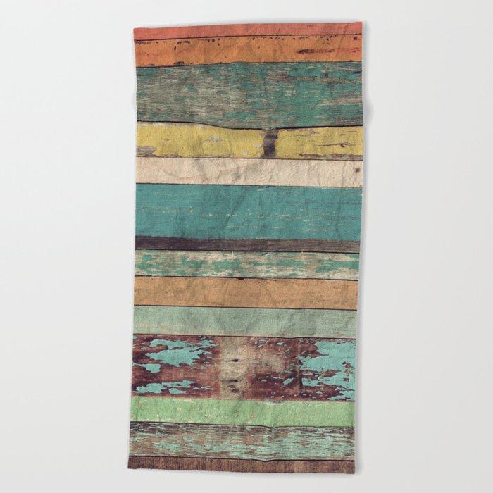Wooden Vintage  Beach Towel