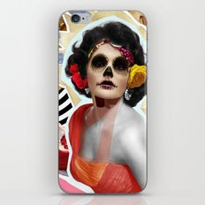 Golden Elizabeth Taylor (Sugar Skull Variant)  By Zabu Stewart iPhone & iPod Skin