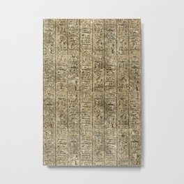 Egyptian Hieroglyphics Metal Print