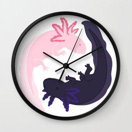 Yin&Yang Axolotls Wall Clock