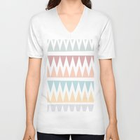 tribal V-neck T-shirts featuring Tribal by AngelicaRoesler