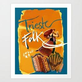 Trieste Folk Art Print
