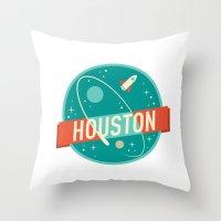 houston Throw Pillows featuring HOUSTON by Fedi