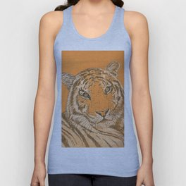 Tiger in Orange Unisex Tank Top