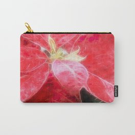 Mottled Red Poinsettia 2 Watercolor Carry-All Pouch