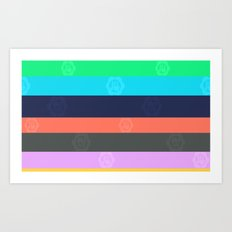Miami Stripe Art Print