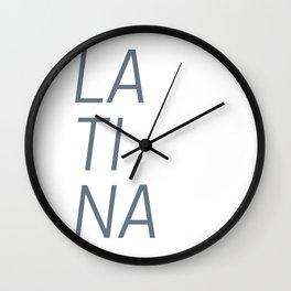 LA TI NA Wall Clock