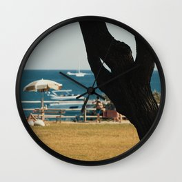 Stop And Breathe Wall Clock